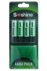 Soshine 4x AA battery (2500 mAh, Wiederaufladbar)
