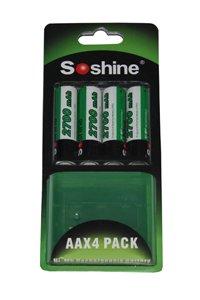 Soshine 4x AA battery (2700 mAh, Wiederaufladbar)